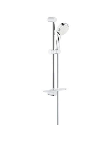 GROHE New Tempesta Cosmopolitan 100, душ гарнитура с една струя Rain и тръбно окачване 600 mm + сапуниера