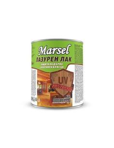 Marsel Лазурен лак защита за дърво с копринен блясък, кестен- 650ml