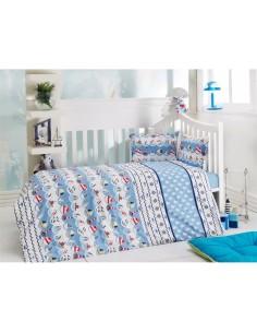Спален комплект за бебе- 4 части/ 58358- 02