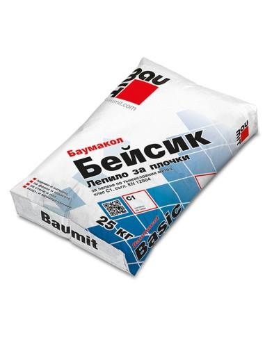 БАУМИТ ЛЕПИЛО ЗА ПЛОЧКИ БАУМАКОЛ БЕЙСИК С1- 25КГ Baumit - 1