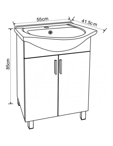 Шкаф за баня с умивалник INTER CERAMIC - 2