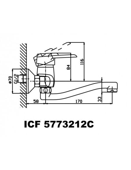 """Смесител """"Сабине"""" ICF 5773212C INTER CERAMIC - 2"""