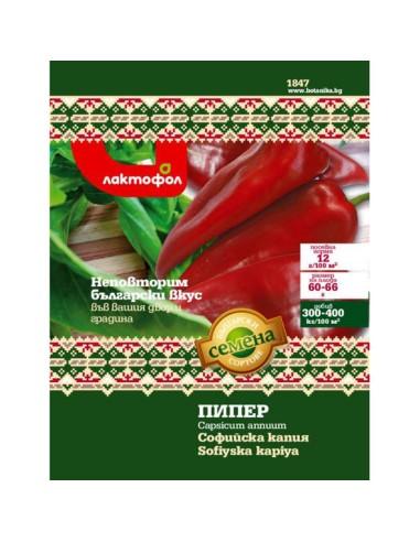 Семена пипер Софийска капия Лактофол Ботаника - 1