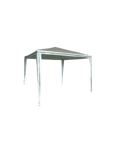 Градинска шатра бяло-зелена 2,4х2,4 м ДРУГИ - 1