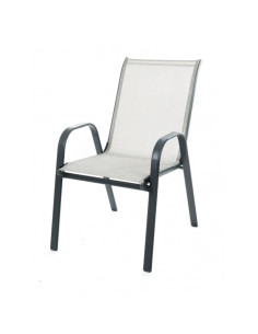Градински стол с метална конструкция SC-092 сив ДРУГИ - 1