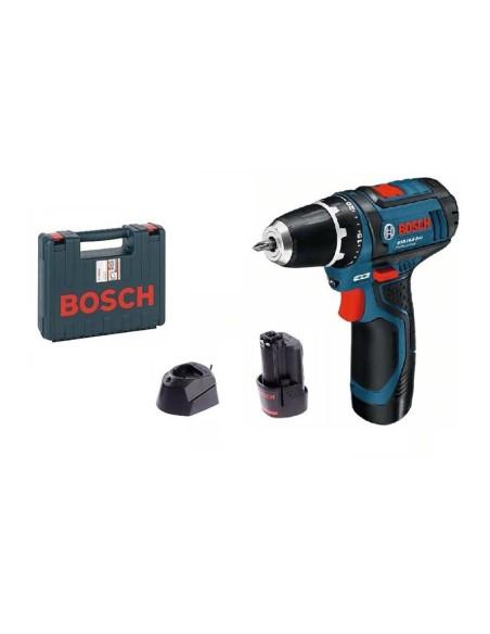 Акумулаторен винтоверт BOSCH GSR 12V-15 с 2 батерии, 2Ah, 12V 2