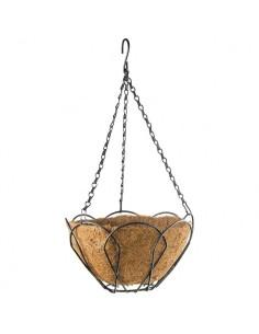 Кашпа висяща, D 250 мм , метална с кокосова кошница PALISAD - 1