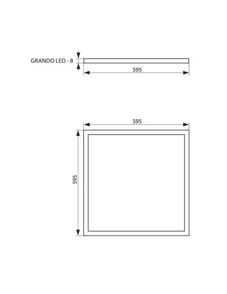 LED панел GRANDO LED - 40W- 3200LM- 4000K, бял VIVALUX - 2