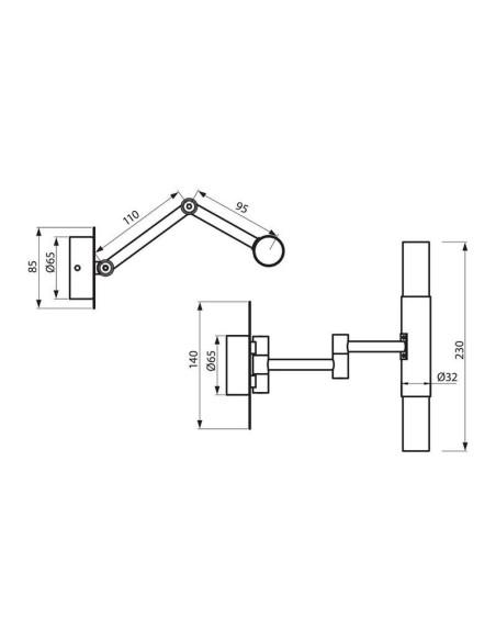 Осветително тяло за баня PARMA 8013/C IP44 VIVALUX - 2