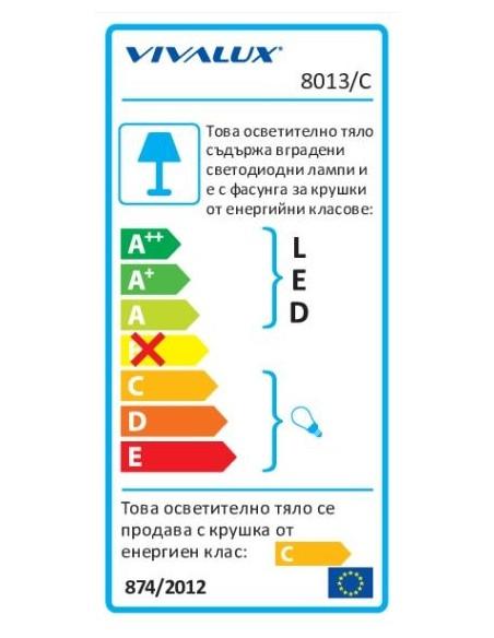 Осветително тяло за баня PARMA 8013/C IP44 VIVALUX - 3