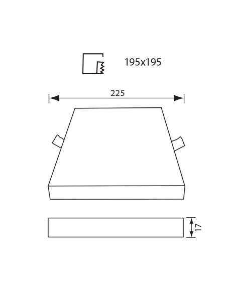 LED панел QUADRA LED - 36W - 3600LM - бял - 4000K VIVALUX - 2