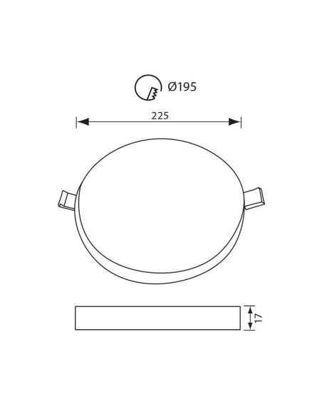 LED панел RONDO LED - 36W - 3600LM - бял - 4000K VIVALUX - 2