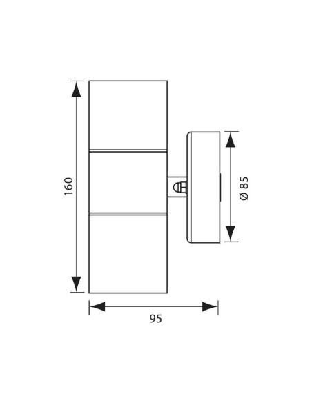 Аплик фасаден Grenada 2 X GU10 N/M IP44 VIVALUX - 2