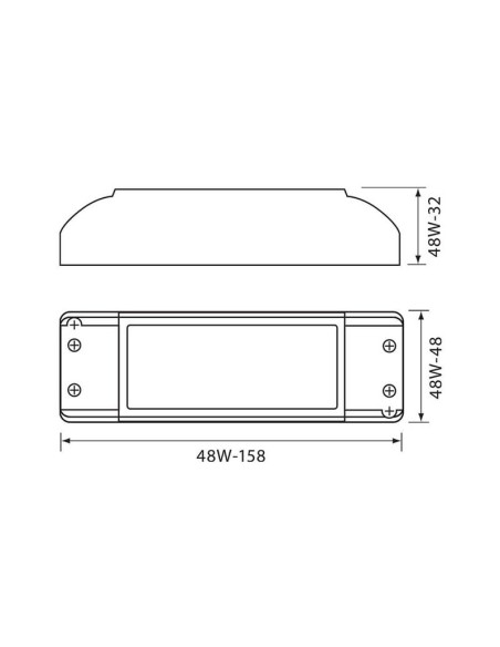 LED захранване MPD MINI LED DRIVER 48W VIVALUX - 1