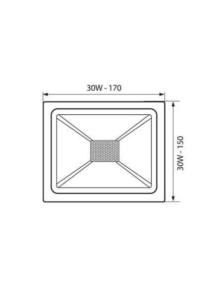 LED прожектор TREND LED 30W/B CL 4000K VIVALUX - 1