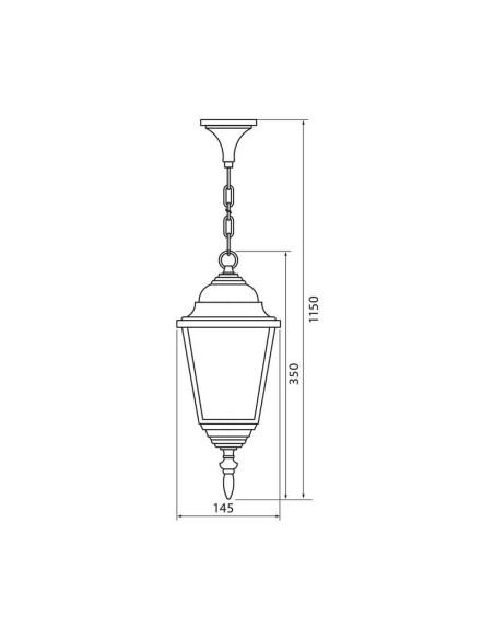 Градински фенер RIGA H006/AB IP44 VIVALUX - 2