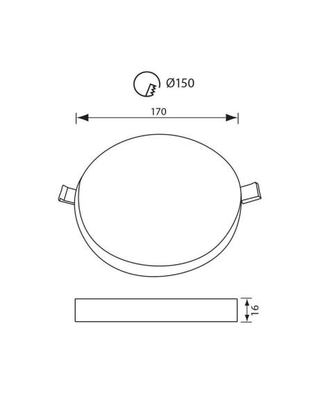 LED панел RONDO LED - 24W - 2400LM - бял - 4000K VIVALUX - 2