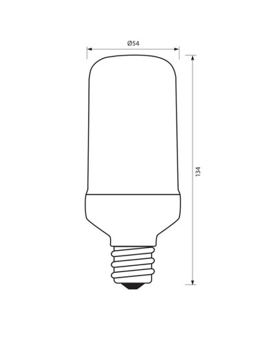 LED лампа PLAM LED- 6.5W- 130LM- E27- 1300-1700K VIVALUX - 1