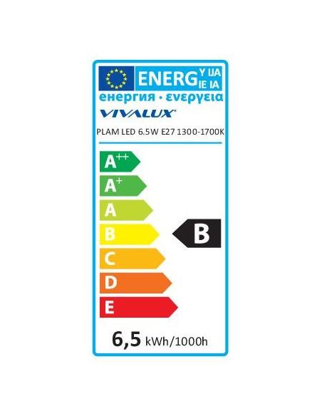 LED лампа PLAM LED- 6.5W- 130LM- E27- 1300-1700K VIVALUX - 3