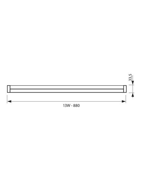 LED oсветително тяло SPICA LED T5 13W CL 4000K VIVALUX - 2