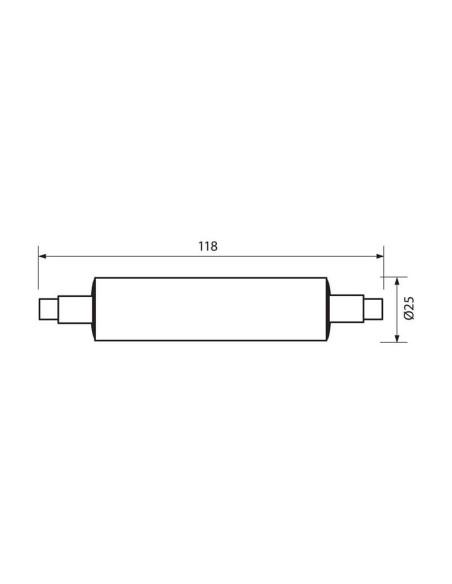 LED лампа VAN LED- 10W- 700LM- R7S- 3000K VIVALUX - 2