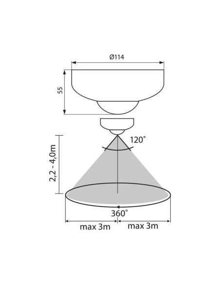 Инфрачервен сензор за движение DATA SR36-W VIVALUX - 2