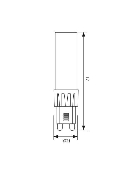 LED лампа OTO LED- 7W- 700LM- G9- 4000K VIVALUX - 2