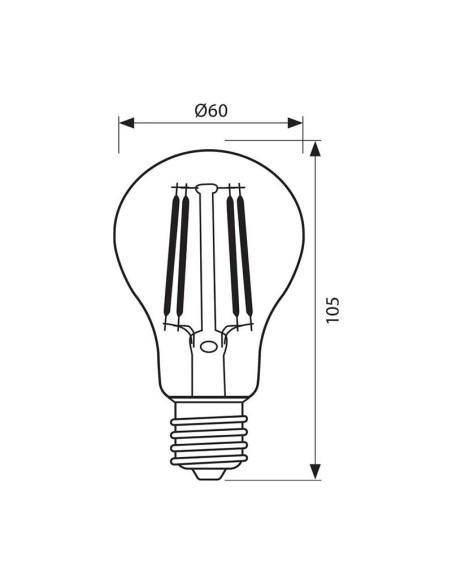 LED филамент лампа FLICK LED- AF60- 8W- 806LM- E27- 3000K VIVALUX - 2