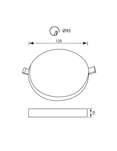 LED панел RONDO LED- 18W -1800LM- бял- 4000K VIVALUX - 2