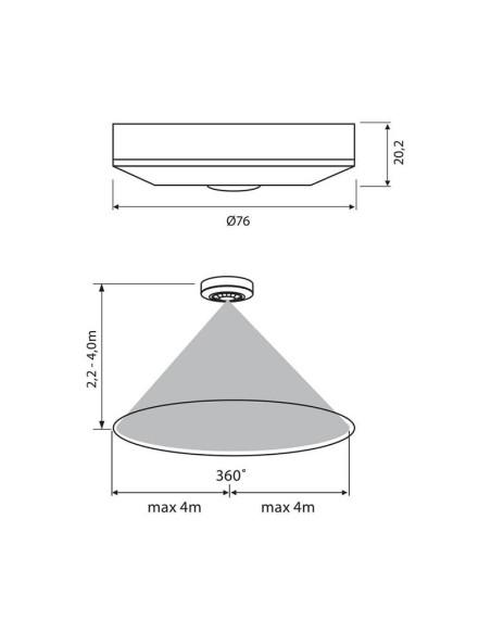 Инфрачервен сензор за движение ROGER SR36 VIVALUX - 2