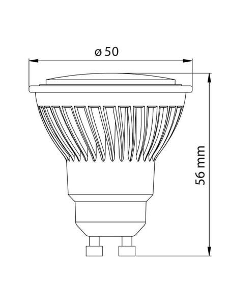 LED лампа FORCE LED PREMIUM- JDR- 10W- 854LM- GU10- 3000K VIVALUX - 2