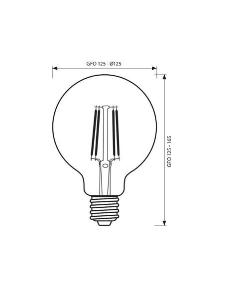 LED филамент лампа FLICK OPAL LED- GFO125- 10.6W- 1300LM- E27- 4000K VIVALUX - 2
