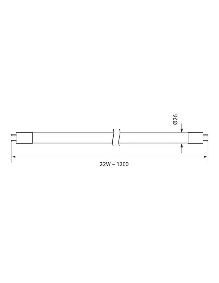 LED тръба ROYAL LED- 22W- 2000LM- T8- 1200MM- G13 - 6400K VIVALUX - 2