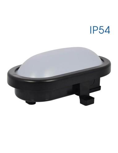Влагозащитена LED плафониера RENE LED 8W BK/CL 4000K VIVALUX - 1