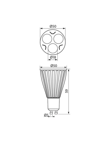 LED лампа EXTRALUX-JDR- 6W-280LM- GU10- 2700K VIVALUX - 2