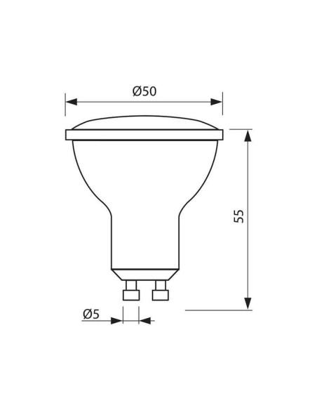 LED лампа VOLUX LED- JDR- 7W- 450LM- GU10 - 6400K VIVALUX - 2