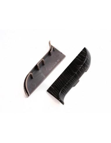 Лява тапа за PVC перваз Salag SG56/86 - опушен дъб SALAG - 1