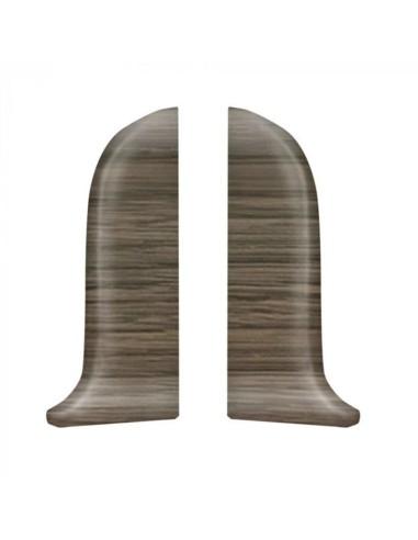 Лява тапа за PVC перваз Salag SG56/70 - дъб тъмен бърбън SALAG - 1