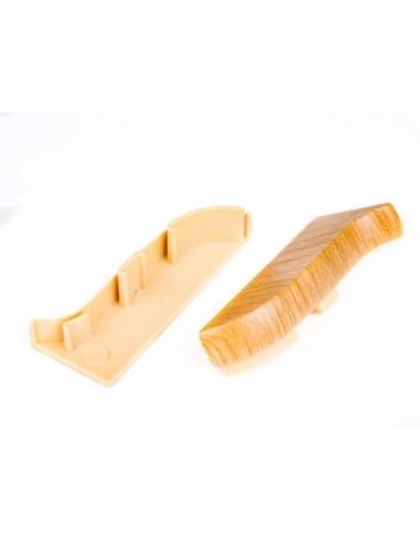 Лява тапа за PVC перваз Salag SG56/08 - тъмен дъб SALAG - 1