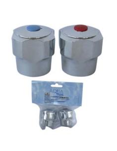 Комплект хромирани ръкохватки за топла и студена вода ДРУГИ - 1