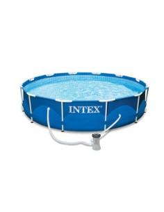 Басейн Intex с метална рамка, 366 x 76 см, к-кт с помпа и филтър INTEXT - 1