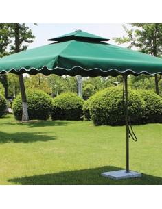 Градински чадър със стойка-...