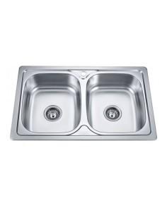 Двойна кухненска мивка...