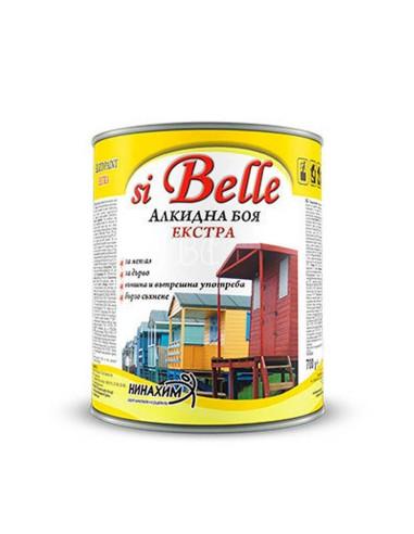 Алкидна боя SI BELLE - черна - 3 кг