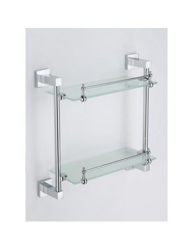 """Двойна стъклена лавица """"НАОМИ"""" - ICA 2622"""