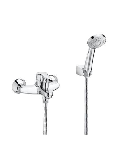 Roca Victoria Външен смесител за вана-душ с автоматичен превключвател, душ слушалка, шлаух 1,70 м. и подвижен държач